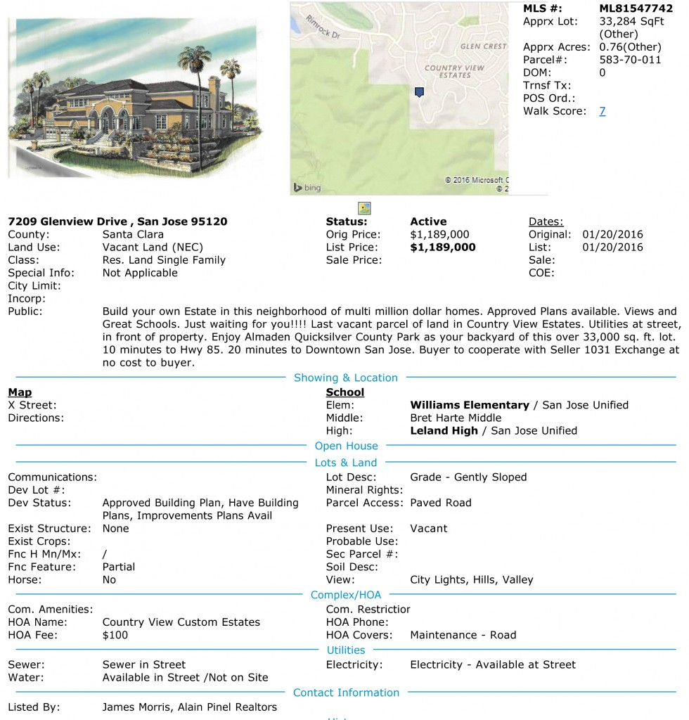 7209 Glenview Drive San Jose California